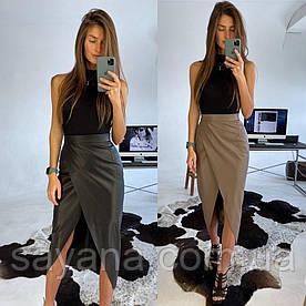 Женская юбка из эко кожи, в расцветках. ЛД-11-0220 (234)