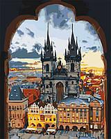 Картины по номерам  Золотая Прага   / пленка 40*50   КНО3568