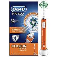 Электрическая зубная щетка Braun Oral-B Pro 600 Cross Action Оранжевая 01235