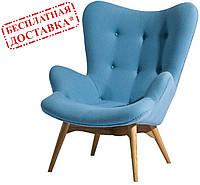 Дизайнерское кресло Флорино голубое ножки бук СДМ группа(бесплатная доставка)