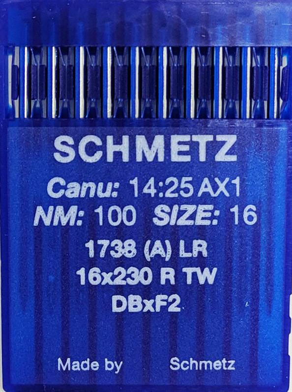 Иглы Schmetz для Кожи 1738 LR (DВx1 LR) №100 для промышленных швейных машин