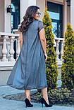 Женское летнее батальное платье свободного кроя  50-56р., фото 2