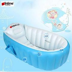 Надувная ванночка для купания Intime Baby Bath Tub Голубая