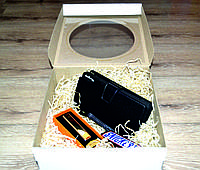 Набор подарочный для мужчин 3 в 1 . Кошелёк-портмоне Baellerry,электроимпульсная USB-зажигалка,батончик.