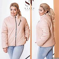 Жіноча демісезонна куртка з еко-шкіри (2 кольори) ВШ/-1175 - Бежевий, фото 1