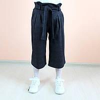 26654 Детские брюки Кюлоты клетка размер  M/134,  L/140,  XXl/152