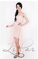 Женское платье со съемным шлейфом Lipar Пудра