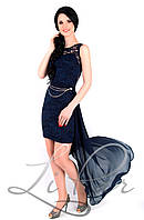 Женское платье со съемным шлейфом Lipar Синий