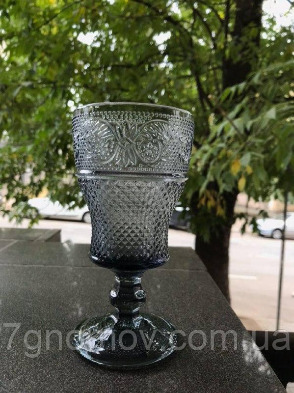 Набор 6 бокалов из серого стекла Bailey Bonnie графитовый по 250 мл