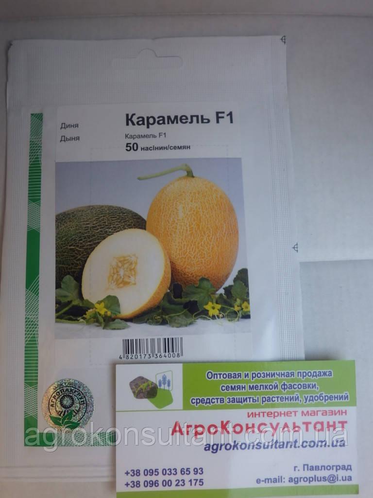 Семена дыни Карамель F1 (Агропак) — 50 семян, суперранняя (60 дней), овальная, тип Ананас