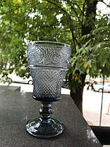 Набор 6 бокалов из серого стекла Bailey Bonnie графитовый по 250 мл, фото 2