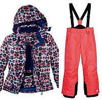 Лыжный костюм для девочки (разноцветная куртка и розовые штаны) Crivit р.122/128см