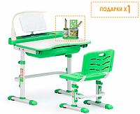 Комплект Evo-kids (стул+стол+полка+лампа) Evo-17 с лампой Зеленый