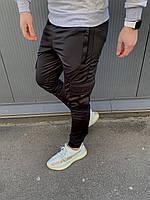 Черные весенние штаны Карго с манжетом, спортивные штаны