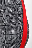 Брюки женские 117R014-1 цвет Серо-красный, фото 2