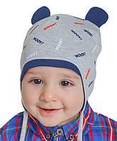 """Детская шапка """"Ким"""" на завязках"""