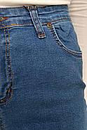 Джинсы женские батал 117R001 цвет Синий, фото 2