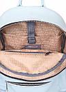 Голубой кожаный рюкзак POOLPARTY Xs женский, фото 4