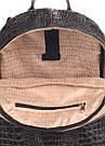 Рюкзак черный под крокодила кожаный POOLPARTY Mini женский, фото 4