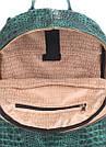 Рюкзак зеленый под крокодила кожаный POOLPARTY Mini женский, фото 4