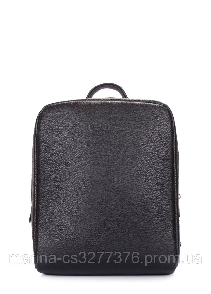 Кожаный женский черный рюкзак POOLPARTY Cult