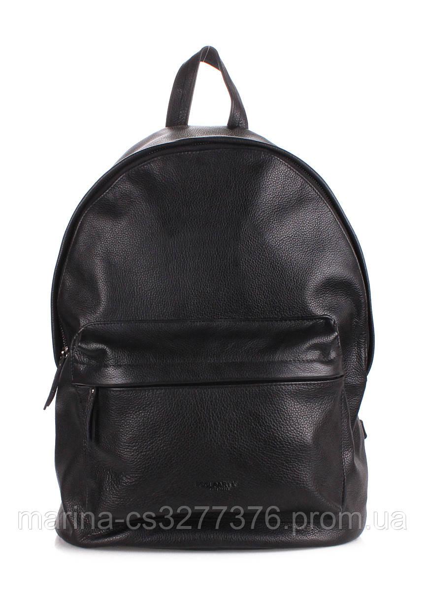 Кожаный рюкзак POOLPARTY  мужской женский унисекс