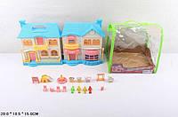 KM08823 Кукольный дом  с куклами и мебелью батар.муз.свет.сумка 20*15*18,5 /36/