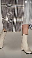 Ботинки женские демисезонные на маленьком каблуке.Белые кожаные ботинки