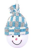 "Декоративная фигурка ""Снеговик"", диам.7,5 см., ""Luca Lighting"", голубая"