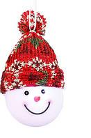 """Декоративная фигурка """"Снеговик"""", диам.7,5 см., """"Luca Lighting"""", красная, зеленая"""