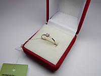 Золотое женское кольцо с бриллиантами. Размер 17,5 Белое золото