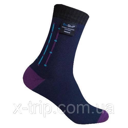 Dexshell Waterproof Ultra Flex Socks L шкарпетки водонепроникні  чорно-фіолетові