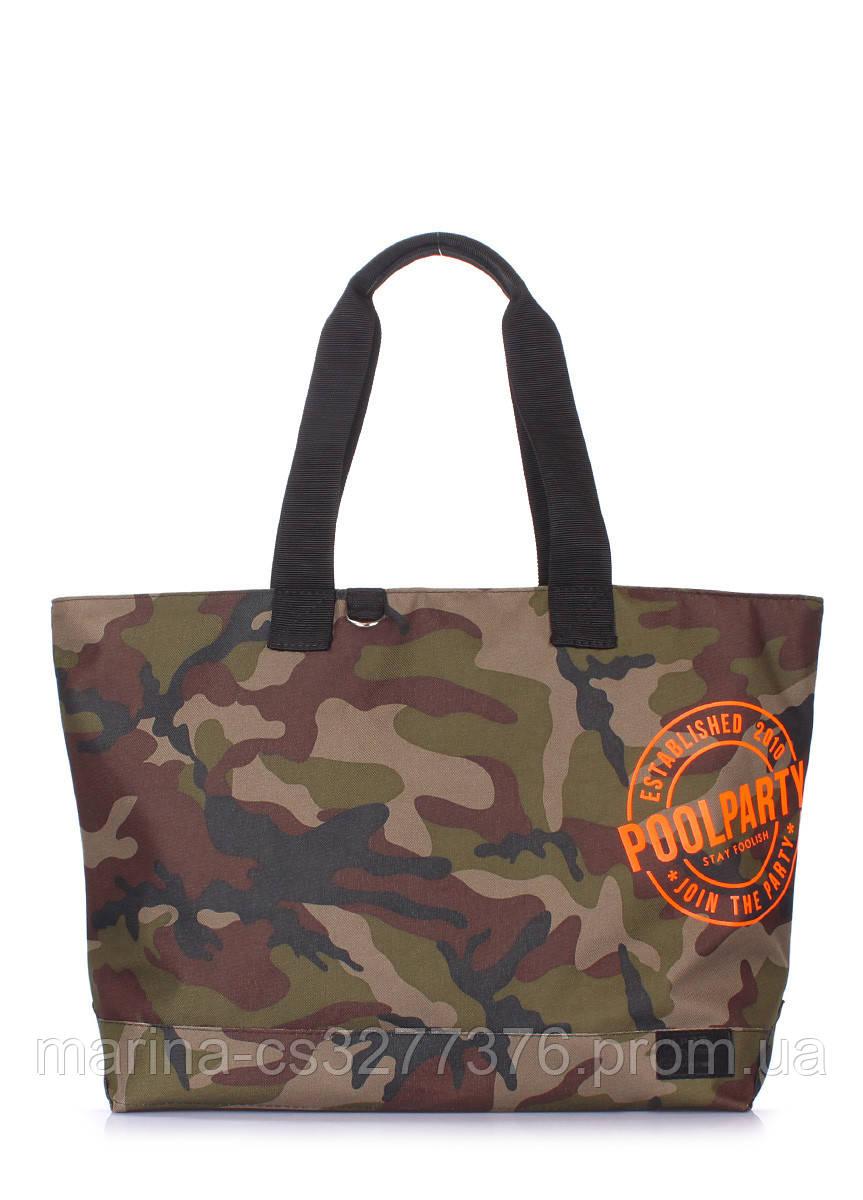 Городская сумка POOLPARTY Riot камуфляжная женская мужская большая