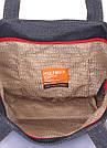 Джинсовая сумка POOLPARTY Arizona темно-синяя женская мужская унисекс, фото 3