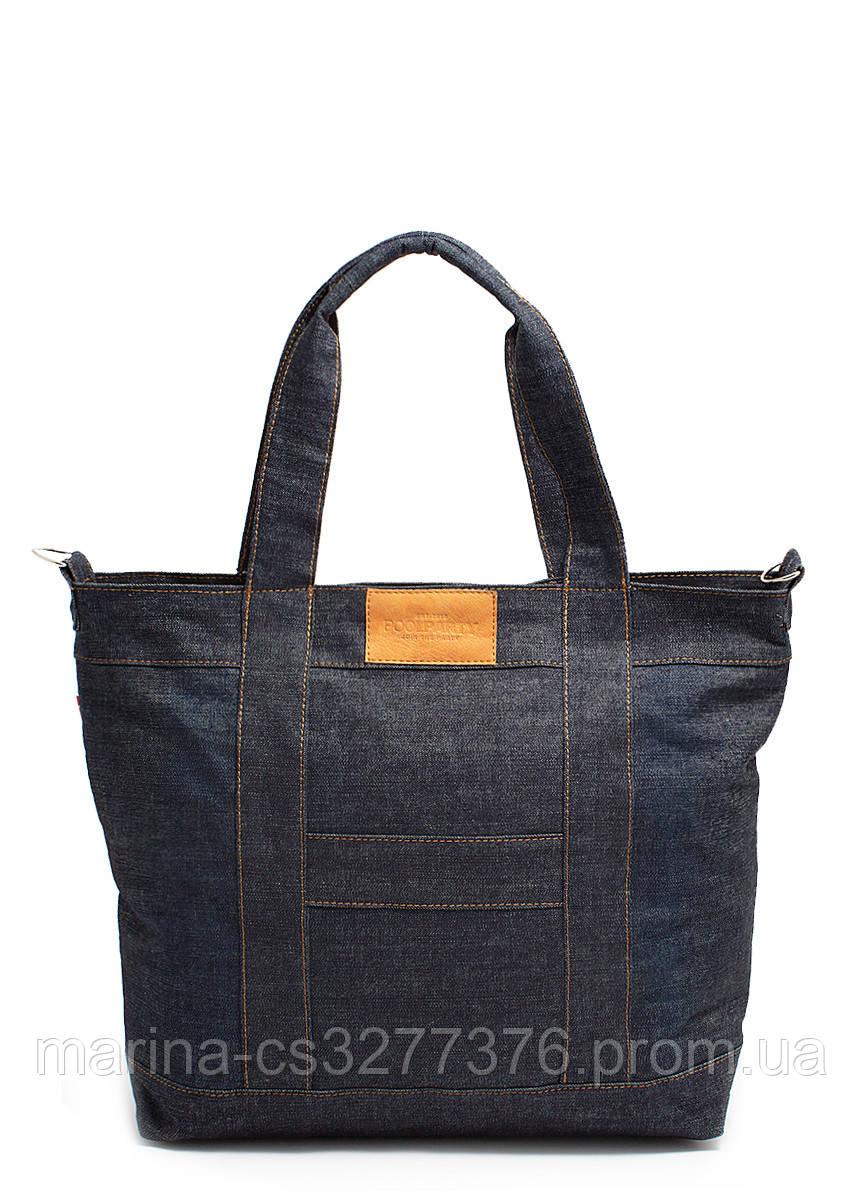 Джинсовая сумка POOLPARTY мужская женская унисекс повседневная
