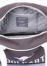 Коттоновая сумка-саквояж POOLPARTY серая унисекс, фото 4