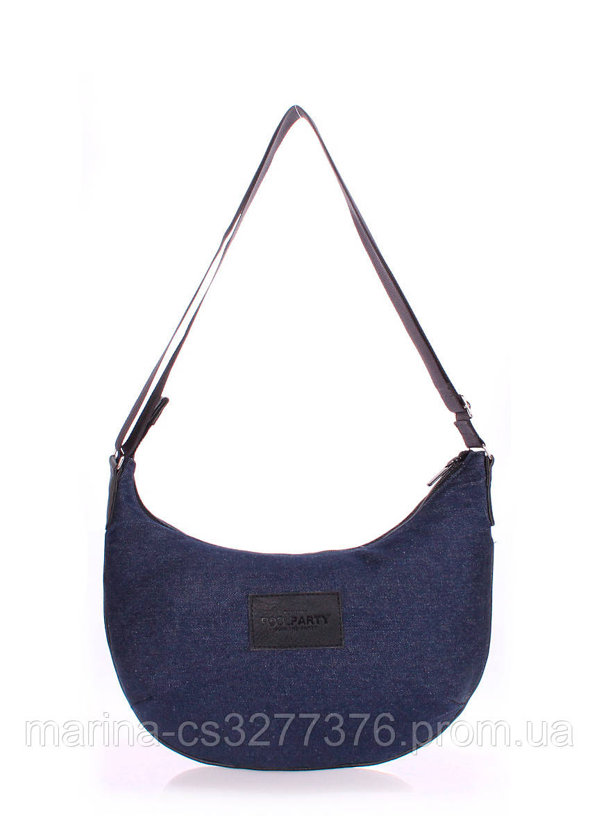 Джинсовая сумка POOLPARTY женская городская хобо