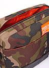 Камуфляжная сумка на плечо POOLPARTY коричневая милитари, фото 4