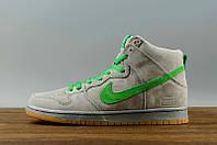 """Кроссовки Nike SB Dunk High """"Серые\Зеленые"""""""