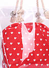Прозрачная летняя сумка с сердцами, фото 4