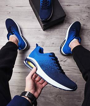 Кросівки чоловічі стильні сині, фото 2