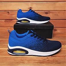 Кросівки чоловічі стильні сині, фото 3