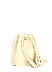 Желтая кожаная сумочка на завязках Bucket желтая летняя женская