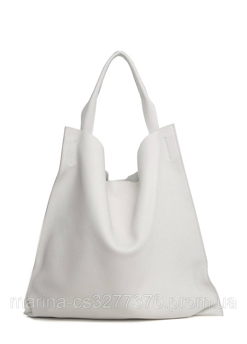 Белая кожаная сумка Bohemia летняя женская
