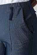 Брюки женские 115R48 цвет Темно-синий полоска, фото 5