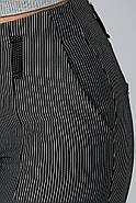 Брюки женские 115R48-4 цвет Черно-белый/полоска, фото 4