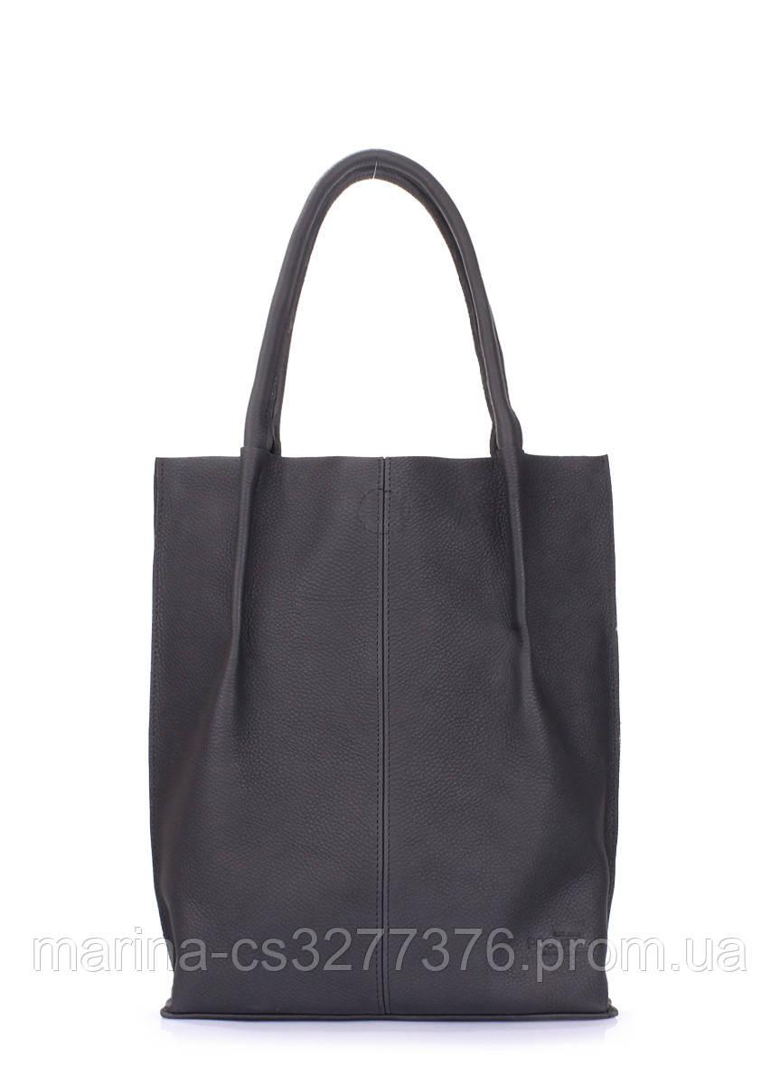 Женская кожаная сумка POOLPARTY Eleganza черная женская
