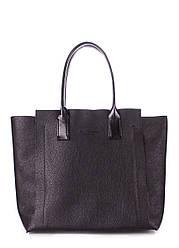 Кожаная сумка POOLPARTY Legend черная женская