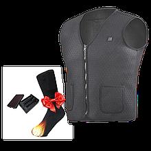"""Промонабір! USB Жилет з підігрівом """"Eco-obogrev multisize-7"""" + Шкарпетки з підігрівом SOCKS 2HB-AA"""