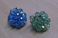 Яркие перстни из чешского хрусталя (разные на выбор) от Студии  www.LadyStyle.Biz